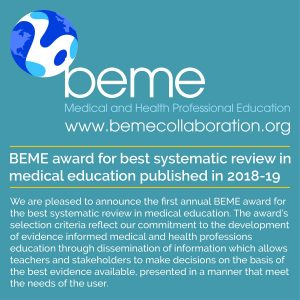 BEME Award 2018-19 We are pleased to announce th...
