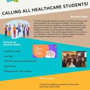 Calling all healthcare students! We are looking...