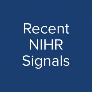 Here are some recent Signals - Signals explain why...