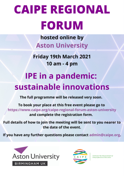 Regional Forum March 2021 - Aston University PNG