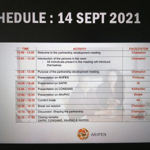 The schedule for today can be found in the image