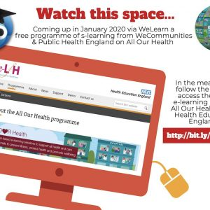 WeCommunities & @PHE_uk are running WeLearn #AllOu...